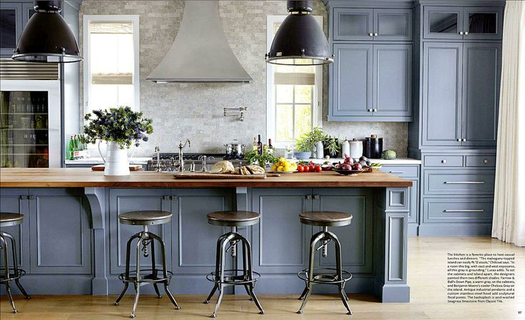 grey painted kitchen units