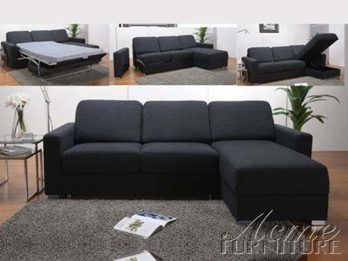 Best Amazon Com Dakota Sectional Loveseat W Sleeper In Grey Fabric By Acme Furniture Sectional 400 x 300