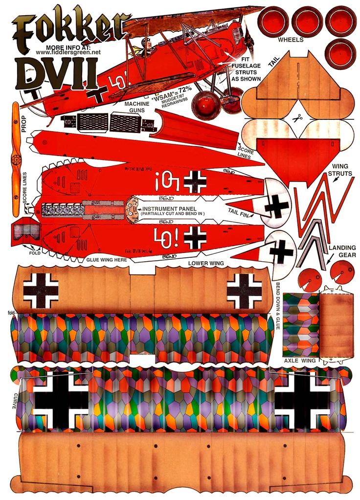 Fokker DVII  Papercraft