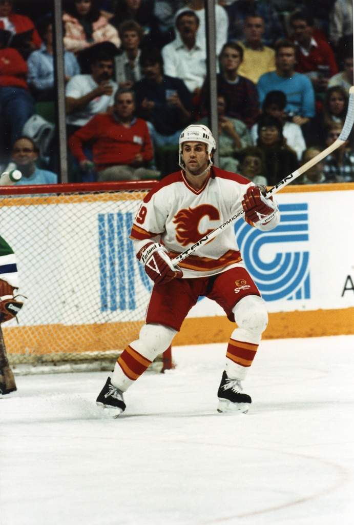 The Flames acquired Doug Gilmour in a seven-player deal prior to the 1988-89 season. He was traded to the Flames along with Mark Hunter, Steve Bozek, and Michael Dark in exchange for Mike Bullard, Craig Coxe and Tim Cokery.