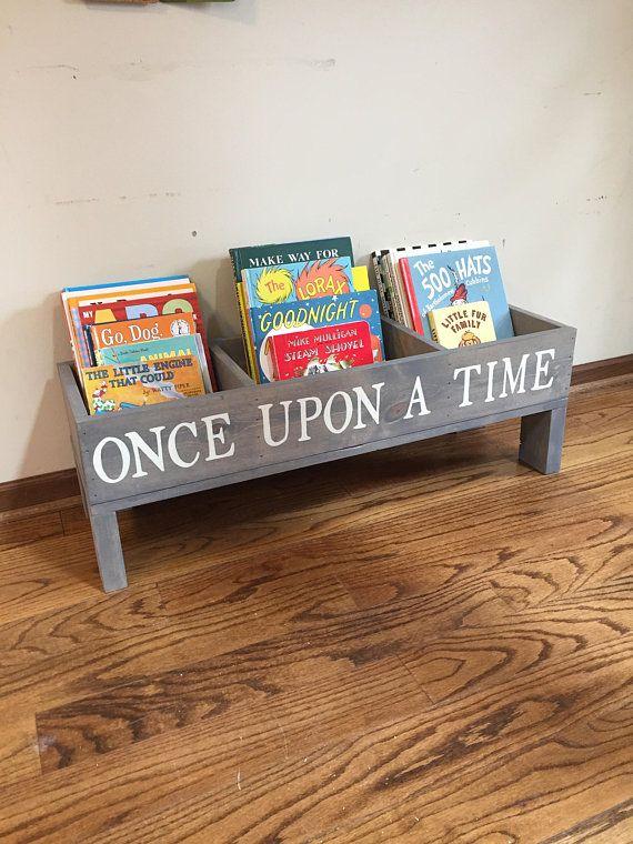 Kids Bookshelf Book Storage Bin Book Shelf Rustic Diy Kids