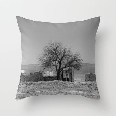 My desert Throw Pillow by Oscar Tello Muñoz - $20.00