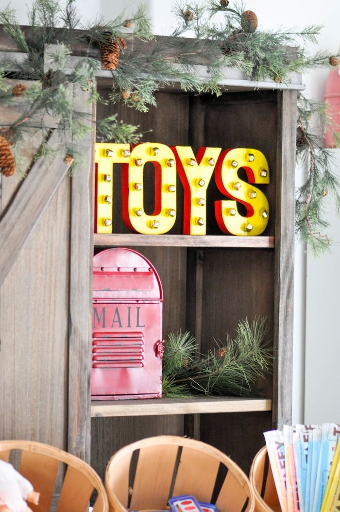 Old Fashioned Christmas Party Ideas Part - 21: Vintage Santau0027s Workshop Christmas Party