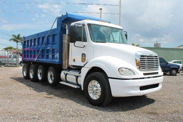 2008 Freightliner Columbia Quad Axle Dump Truck For Sale (305)930-6374 ( E.R. Truck)
