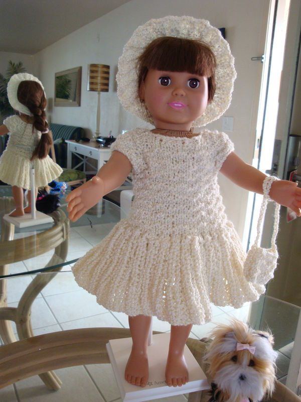 Ladyfingers - AG doll,Springfield Dolls & other 18 inch dolls - Basic Easter Dress with Variations