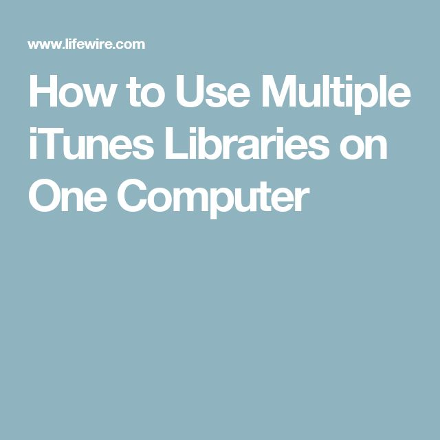 How to Use Multiple iTunes Libraries on One Computer