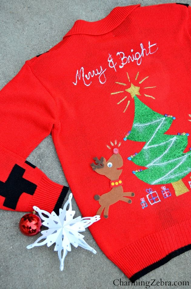 42 best images about ugly christmas sweater diy on for Ugly christmas sweater ideas make your own