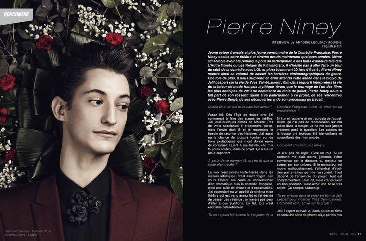 Raise Magazine Issue #13 THE DARK ISSUE with Pierre Niney #PierreNiney