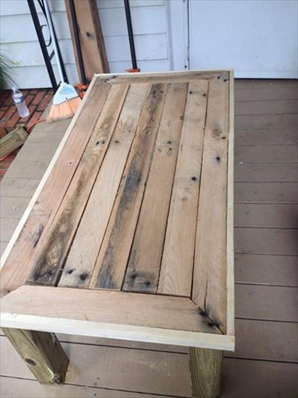 12 DIY Antique Wood Pallet Coffee Table Ideas | DIY and Crafts Frugal Ideas, simple living #frugal
