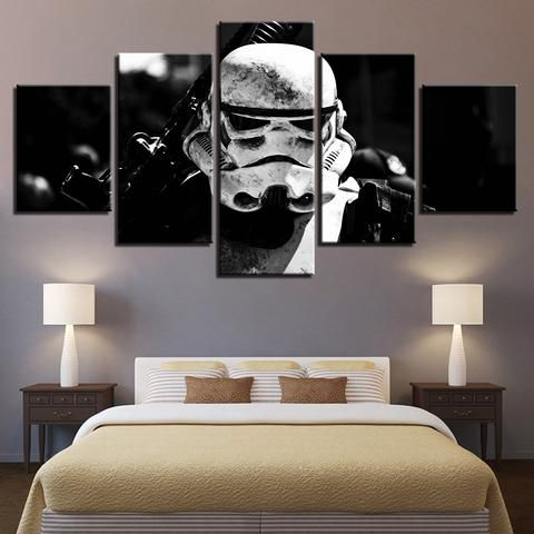 5 Pieces Star Wars Stormtrooper Movie Canvas Wall Art