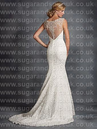 Alfred Angelo 2524 - lace gown back detail - Sugar and Spice UK - Lincoln