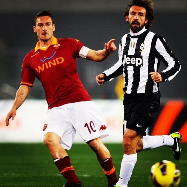 Totti and Andrea Pirlo Roma vs Juventus True legends