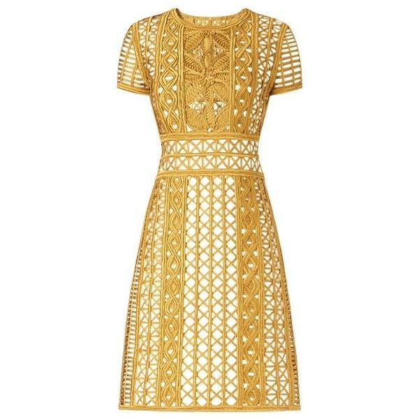 Burberry Handwoven Metallic Tape Shift Dress and other apparel, accessories and trends. Browse and shop related looks.