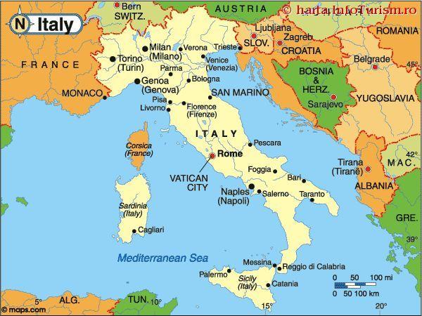 Harta Italia Căutare Google With Images Turism Hartă