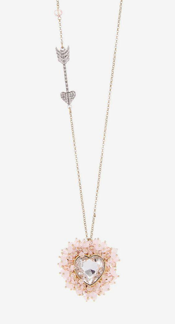 Betsey Johnson | Pink Heart Pendant Necklace