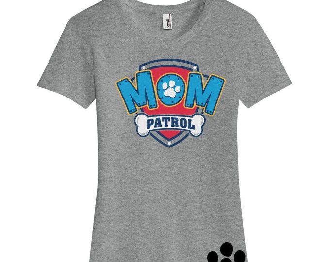 Custom PAW PATROL MOM birthday Ladies T Shirt Mom Patrol Shirt Paw Patrol Inspired Birthday number Shirt with Name on Back