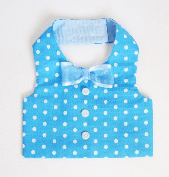 Dog Clothes Boy Dog Vest Turquoise Polka Dots by miascloset, $18.00