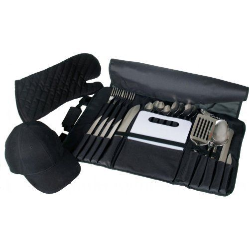 Customized Outdoor Bbq Tool Combo Set by BBQ Guys. $49.95. Easy to store, rollup carrying case. Includes PatherVison LED Hat, BBQ Tool Set & Weber BBQ Mitt. If personalizing this item, please allow 7-10 Business Days for embroidery process.. The perfect gift for the BBQing Master in your family!. Customized Outdoor BBQ Tool Combo Set. PS4-104 + 772-BBQKIT + 6401. BBQ Tool Sets. The Customized Outdoor Grilling Combo Set combines three of our most popular customizab...