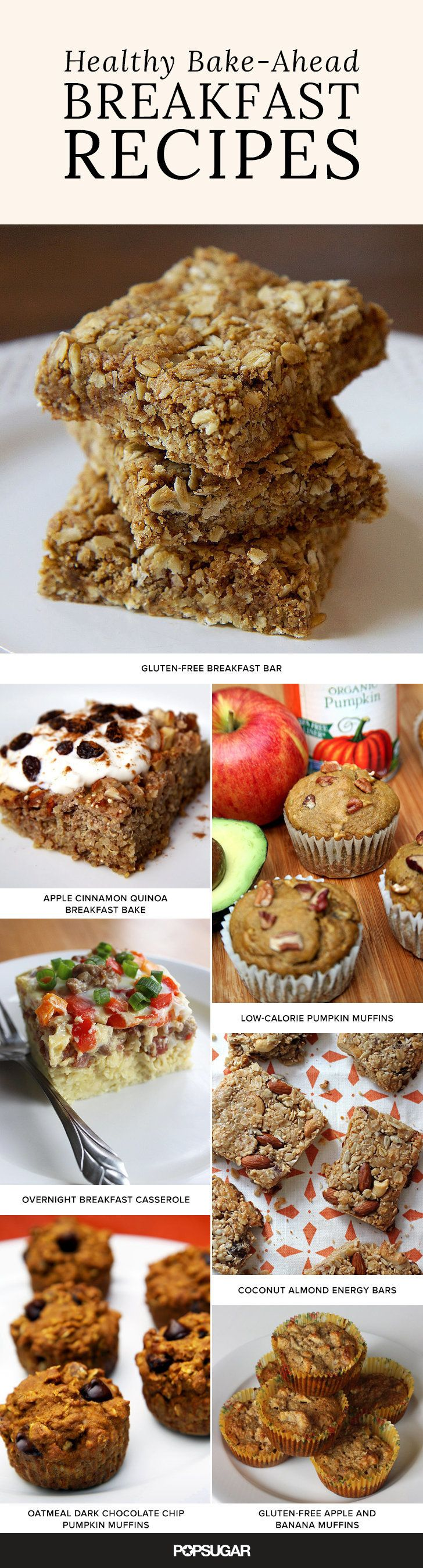 Stop the weight-loss sabotage by taking time during the weekend to bake a big batch of healthier, lower-calorie, and lower-fat options that you can grab as you head out the door. These breakfast batches are just what you need.