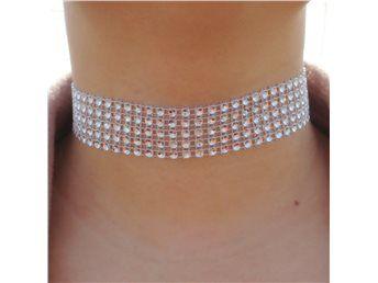 Choker halsband stenar strass modernt snyggt NY