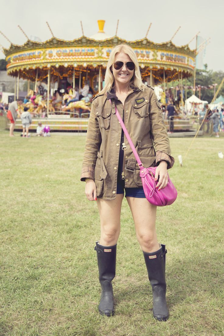 """We spotted Amy at Camp Bestival. This is what she had to say - """"I was given my Barbour International jacket as a birthday present although I had dropped quite a few hints beforehand"""""""