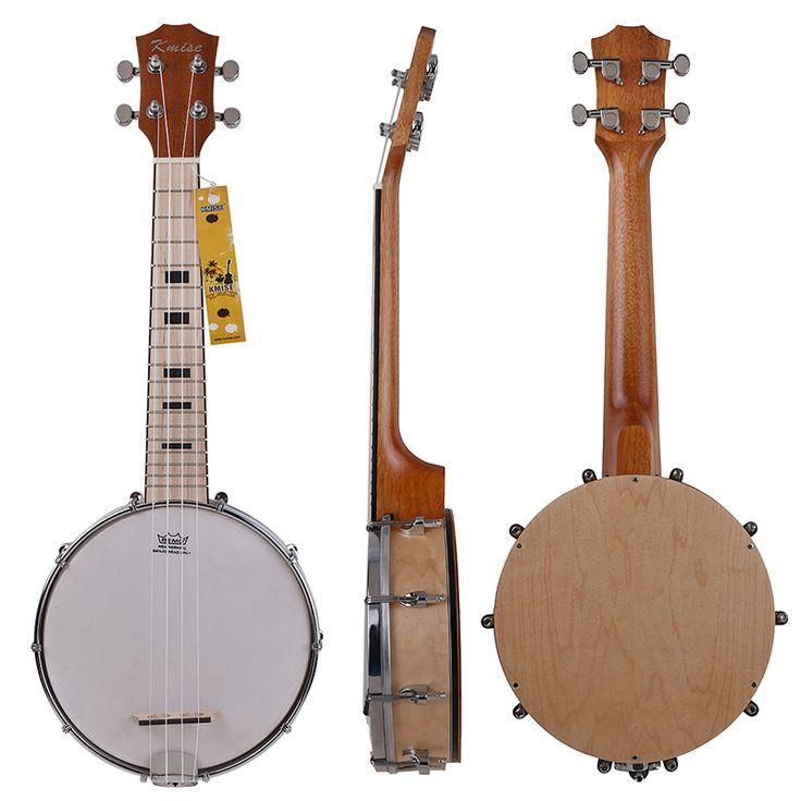 Get Kmise Banjo Ukulele 4 String Ukelele Uke Concert 23 Inch Size Maple Wood #Kmise #Banjo #Ukulele #String #Ukelele #Concert #Inch #Size #Maple #Wood