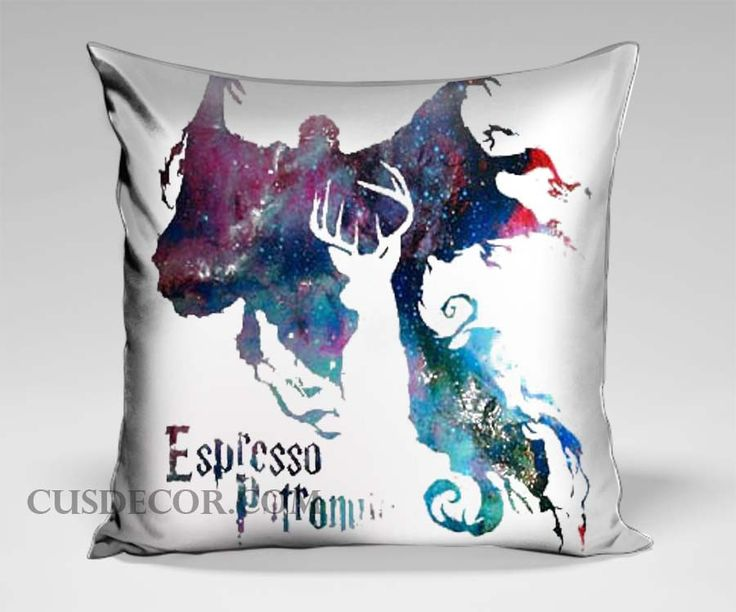 Cute Pillow Cases : Espresso patronum harry potterin galaxy cute pillow cases Pillow cases Pinterest Products ...
