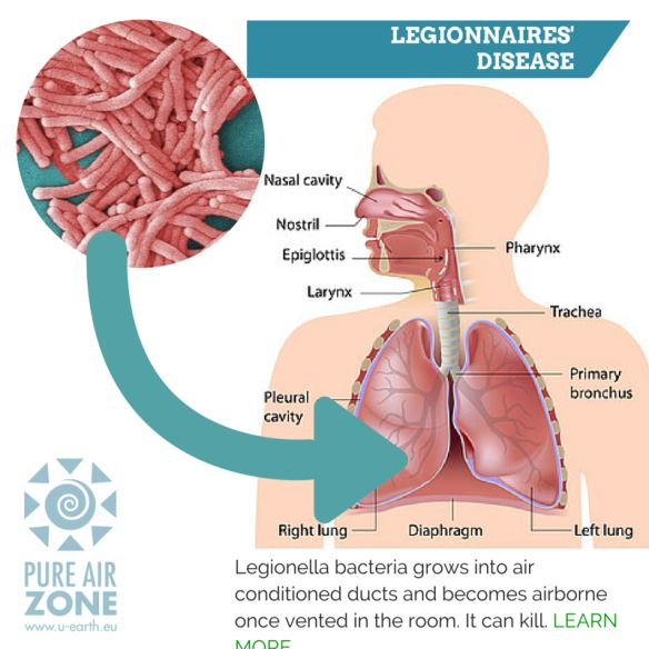 A Lawyer in Canada is seeking Class-Action Suit For 2012 Legionnaires' Outbreak. Today you can really get in trouble by not taking Air Quality seriously. U-earth Pure Air Zone, air purification system, will keep you away from law suits while turning you in the most popular business in town.