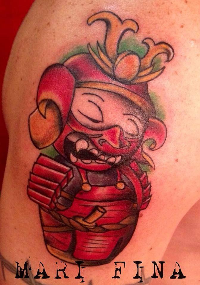 Buon giorno cari Fans,ecco a voi Kokeshi Samurai! Grazie Beppe! Tattoo artist: Mari Fina  http://www.subliminaltattoo.it/prodotto.aspx?pid=01-TATTOO&cid=18  #subliminaltattoofamily #cartoon #newschool #tattoo #tatuaggiodidomenica
