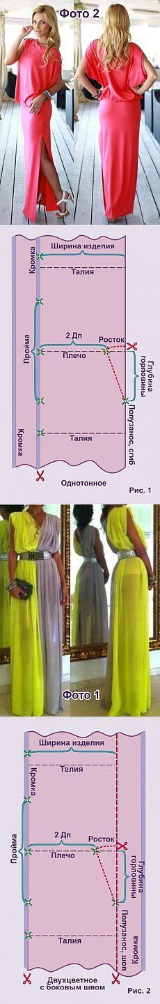 Примитивные платья (выкройка) / Простые выкройки /