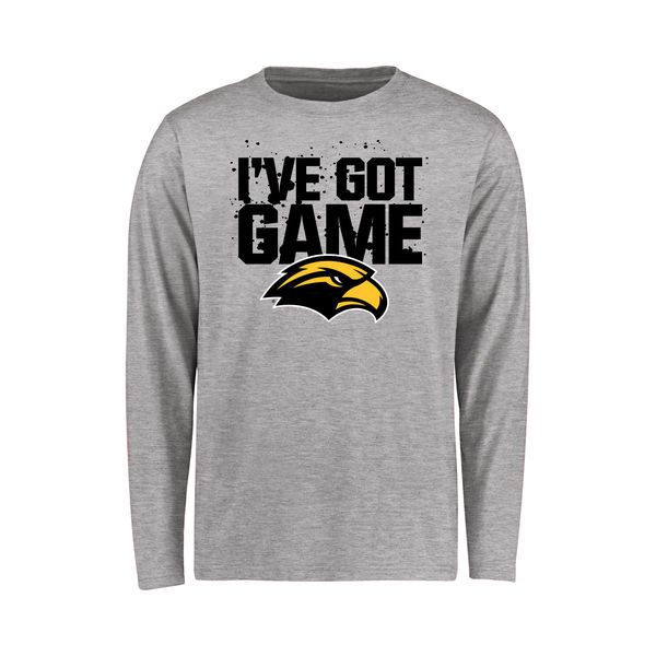 Southern Miss Golden Eagles Youth Got Game Long Sleeve T-Shirt - Ash - $21.99