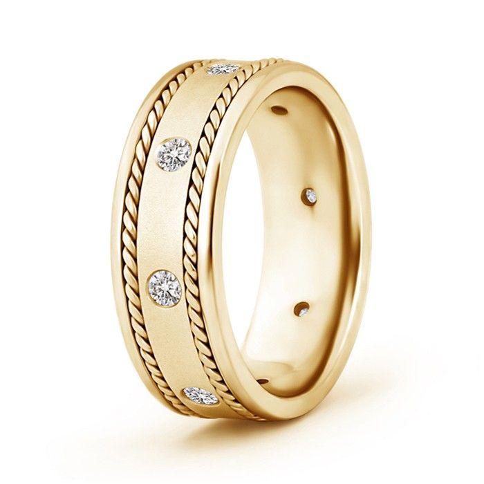 Angara Mens High Polished Infinity Promise Wedding Band Po1zsFVj1