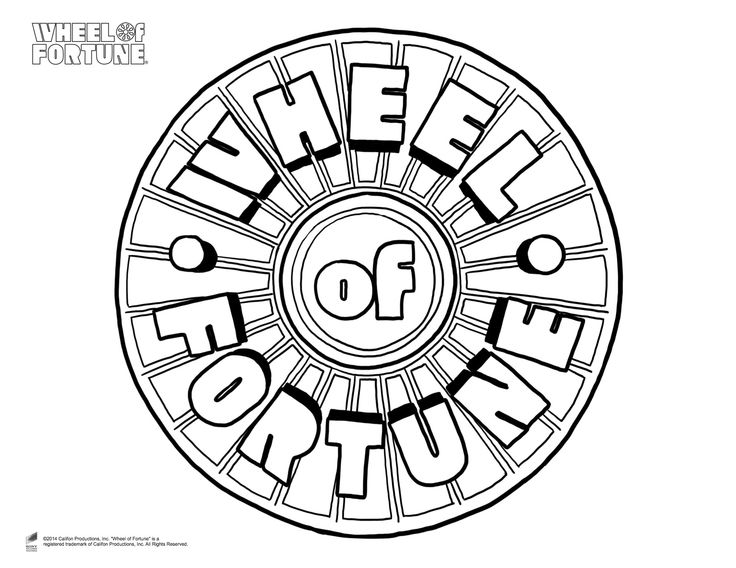 wheel of fortune coloring pages - photo#1