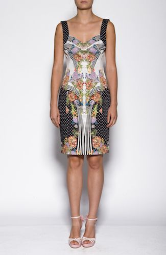 Just Cavalli dress Form fitting multicolored dress with wide shoulder straps. 98%COTTON2%ELASTANE Code: S02CT0185N36572