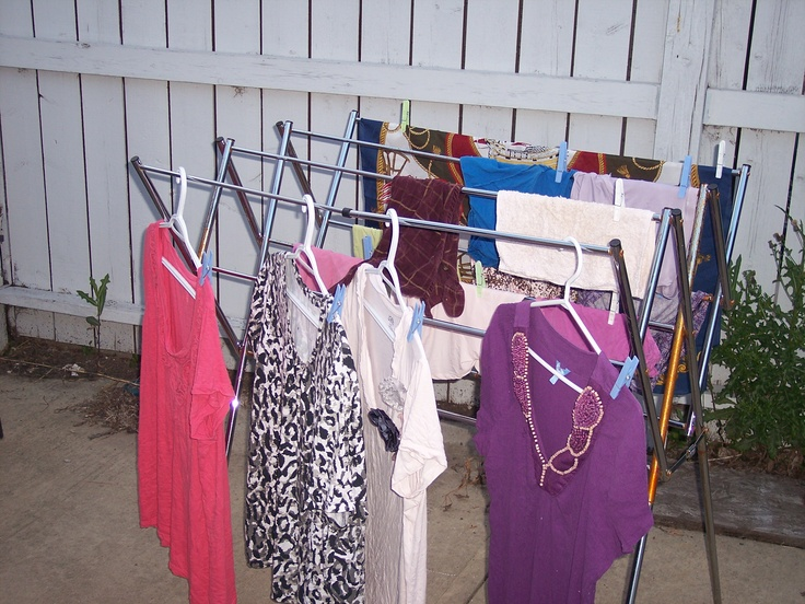 This is my favorite design for a drying rack and now the only type I would buy. Look for them on sale. Save money, power and clothing wear and tear.