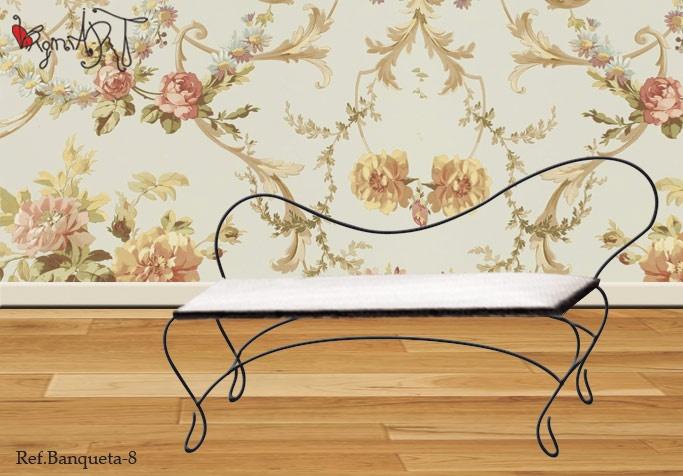 Banquetas descalzadoras en hierro for Diseno de muebles de hierro