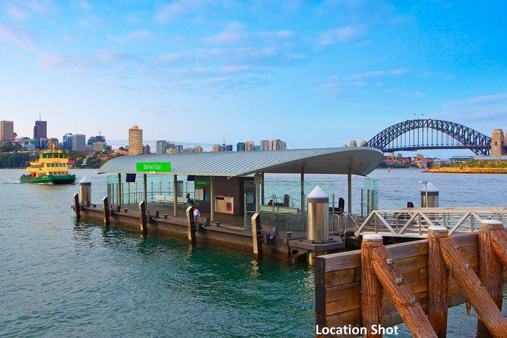 Balmain East Wharf, Ferry, Harbour Bridge, location shot, Pilcher Residential
