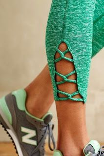 cute touch for workout pants