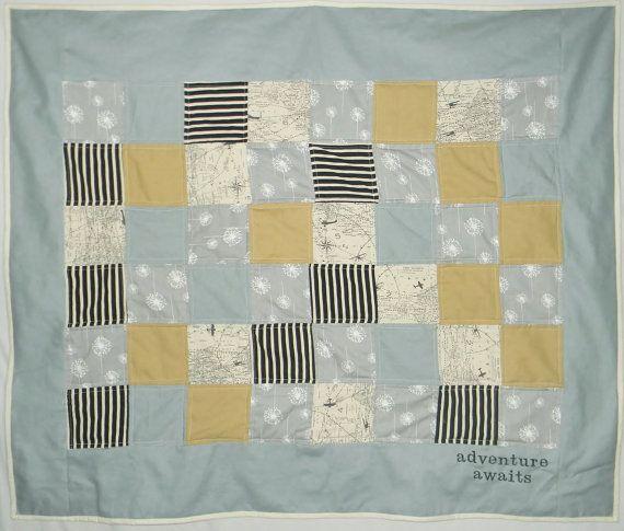 Avontuur wacht op baby jongen quilt reizen door createdbymammy