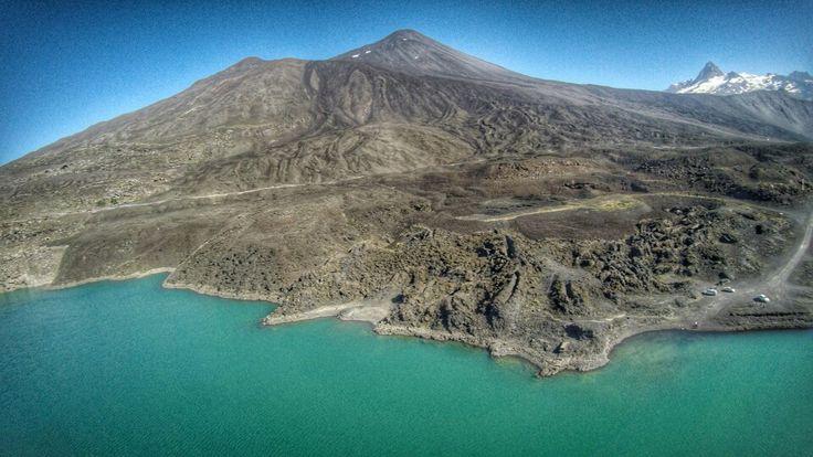 Volcan Antuco, Lago Laja.
