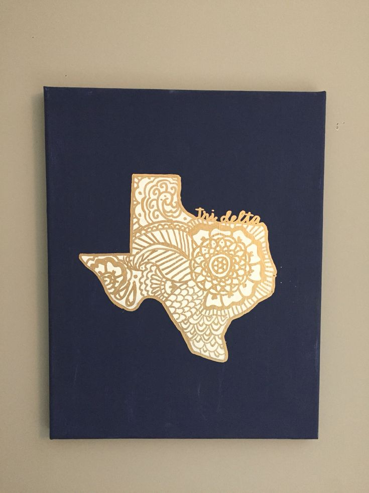 Tri delta Texas canvas www.dashofserendipity.com