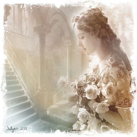 Alone Vintage photography Stretched special canvas by Jullyet, $85.00