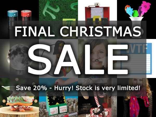 Final Christmas Sale on the NeatoShop: Save 20% Off Hundreds of Neat Stuff!