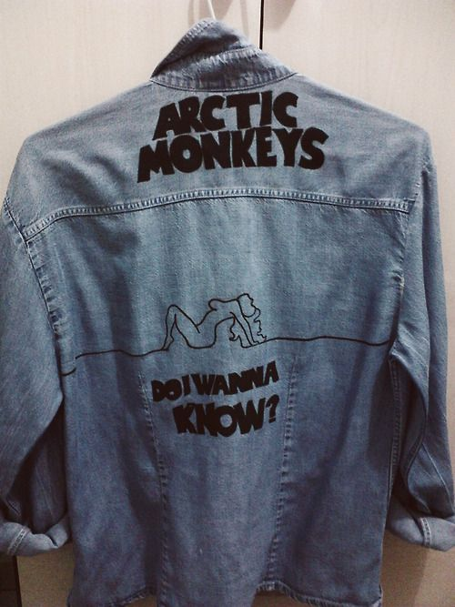 awesome! arctic monkeys + denim