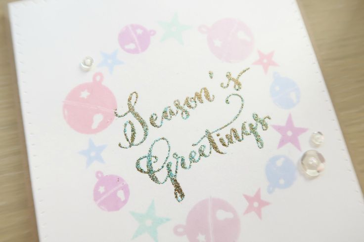 How to do two-tone heat embossing.  Tutorial by Laura Sterckx  (091916) https://www.youtube.com/watch?v=6GtW7OIyG-Q  designer's site: http://makingcardsisfun.com/2016/09/two-tone-heat-embossing-winnie-walter-blog-feature.html  using Winnie & Walter (dies) Essentials: Katharine; (stamps) Comfort + Joy, Merry & Bright  [two-tone]