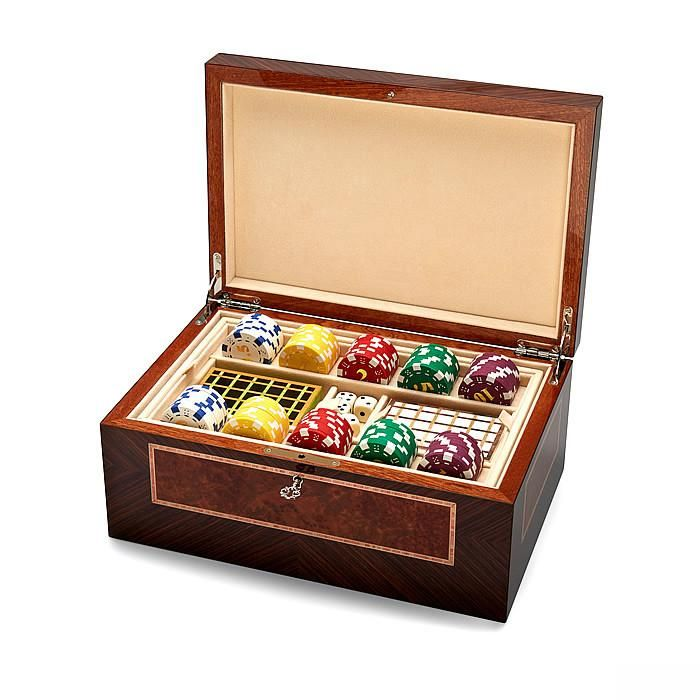 Game Box in Brown Glamour