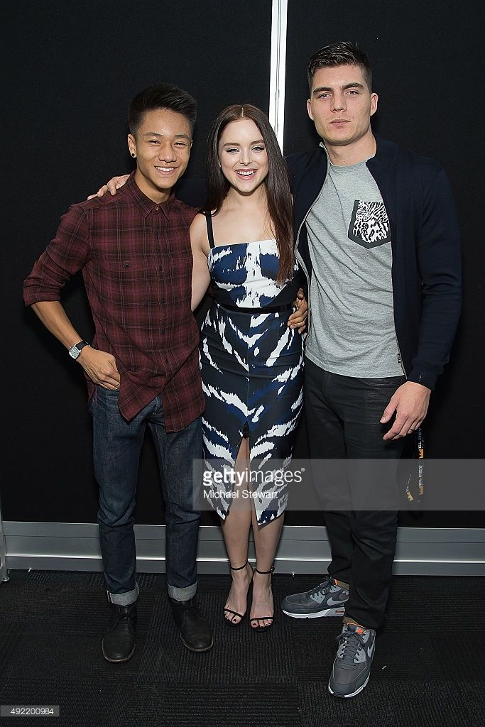 (L-R) Actors Brandon Soo Hoo, Madison Davenport and Zane Holtz pose in the press room for Marvel's 'From Dusk till Dawn: The Series' during New York Comic-Con Day 3 at The Jacob K. Javits Convention Center on October 10, 2015 in New York City.  (Photo by Michael Stewart/Getty Images)