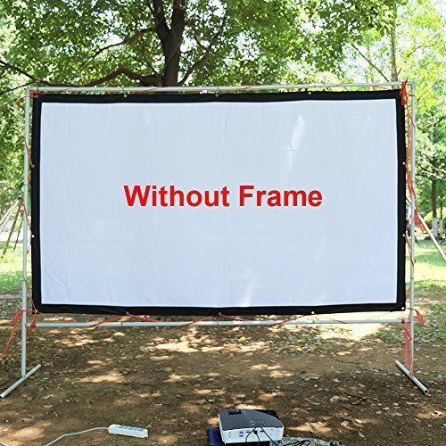 Outdoor Movie Projector HD Screen 120 inch Home Theater 16:9 Waterproof Screen #ProjectorHDScreen120inch