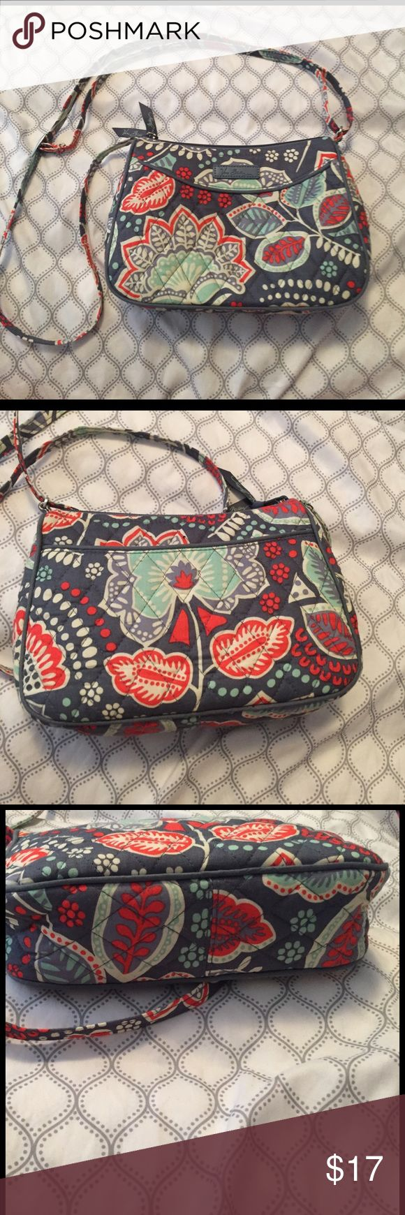 Vera Bradley nomadic floral purse In great condition. Tried to use it but it was smaller than I expected. Strap can adjust to be more of a cross body or tighten even more Vera Bradley Bags Crossbody Bags