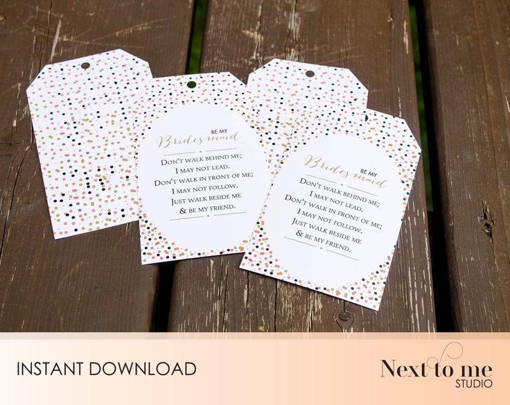 INSTANT DOWNLOAD - Will you be my bridesmaid? Tags - Wine tags - Gift tags _ wedding_ Gift _ Pattern _ SKU: BMB_20 by NextToMeStudio on Etsy